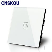 Free Shipping SANKOU UK Touch Switch Wall 1G1W Luxury White Crystal Glass Sensitive +LED Smart Home Switches