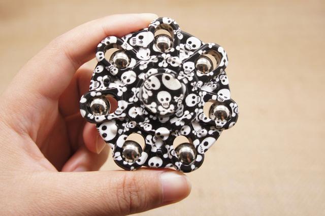New Creative EDC Powerful Fidget Spinner Hand Finger Camouflage Plastic