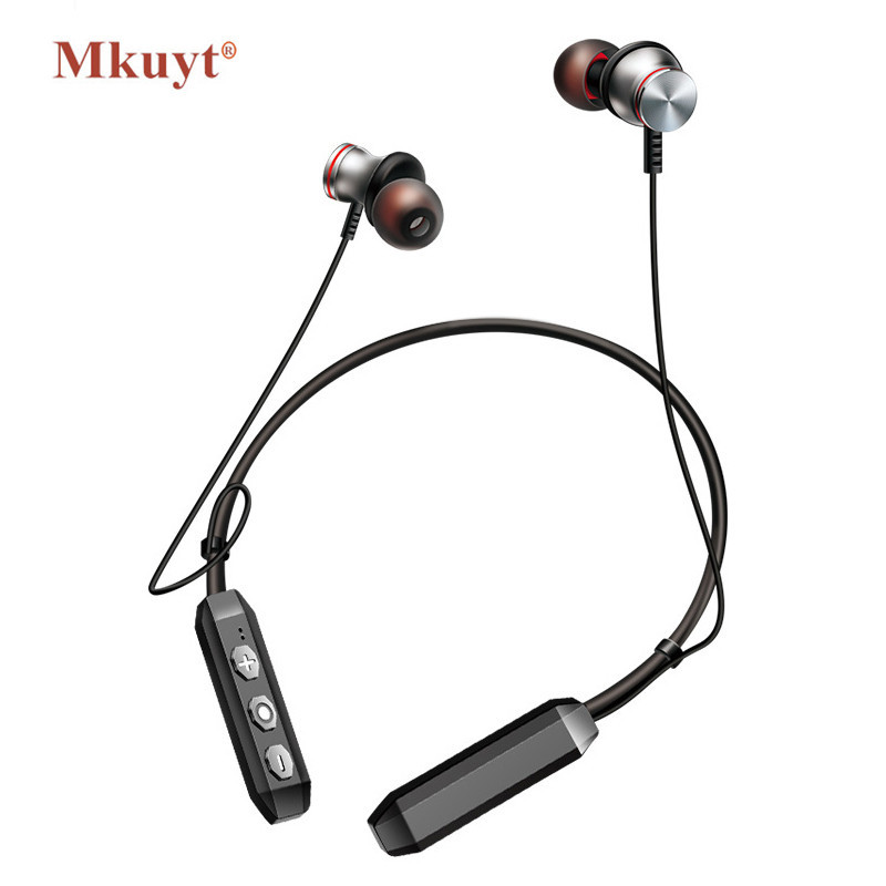 MKUYT Magnet Wireless Running Sport Bluetooth 4.1 Earphone Headphones with Mic Handsfree Stereo Earbuds Neckband Headset