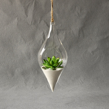Hanging Borosilicate Glass Terrarium Vase Ideal for Home/Party/Wedding Decoration