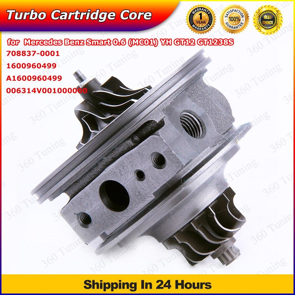 GT1238 GT1238S Turbo Cartridge CHRA  708837-0001 1600960499 708837 Turbine for MERCEDES-BENZ Smart M160 0.6L O7 2000 - 2001  цена