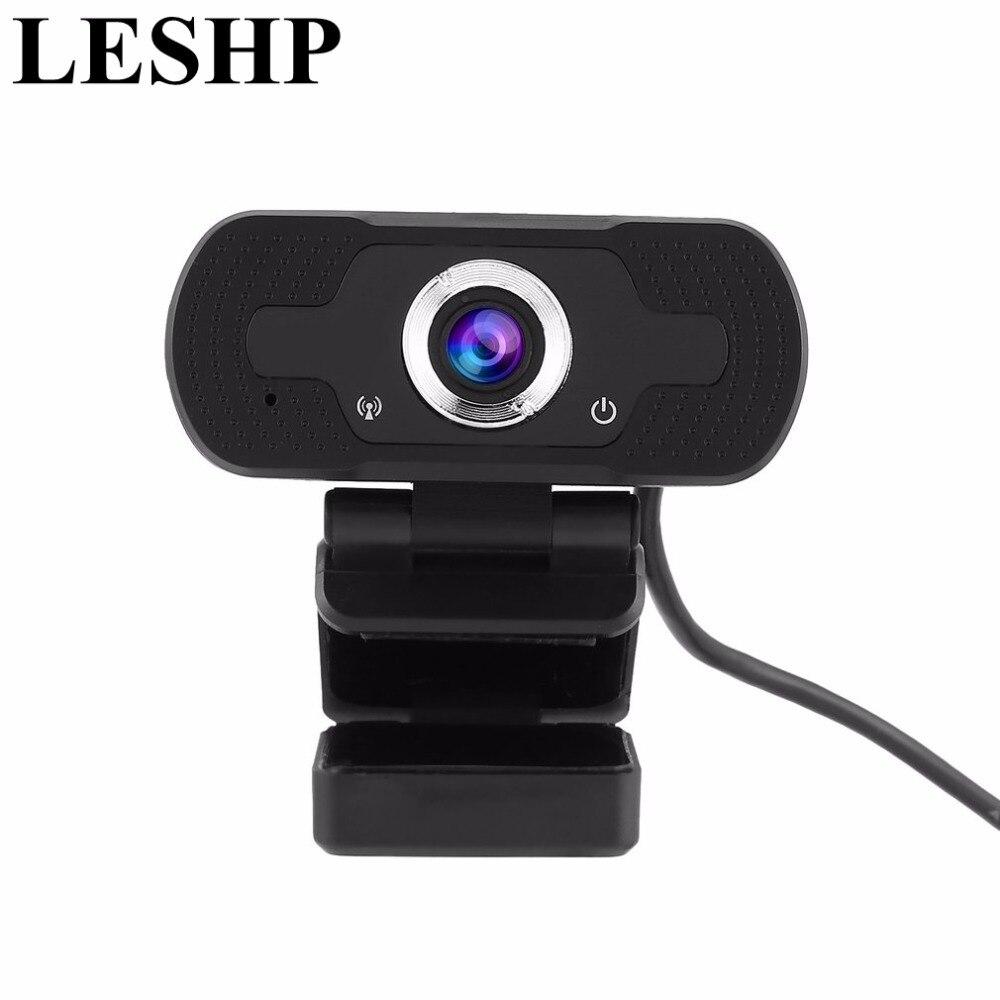 LESHP USB Web Camera 720P 1080P HD Web Camera Webcams Built-in Noise canceling microphone 2D DNR USB Camera Plug n Play Web Cam