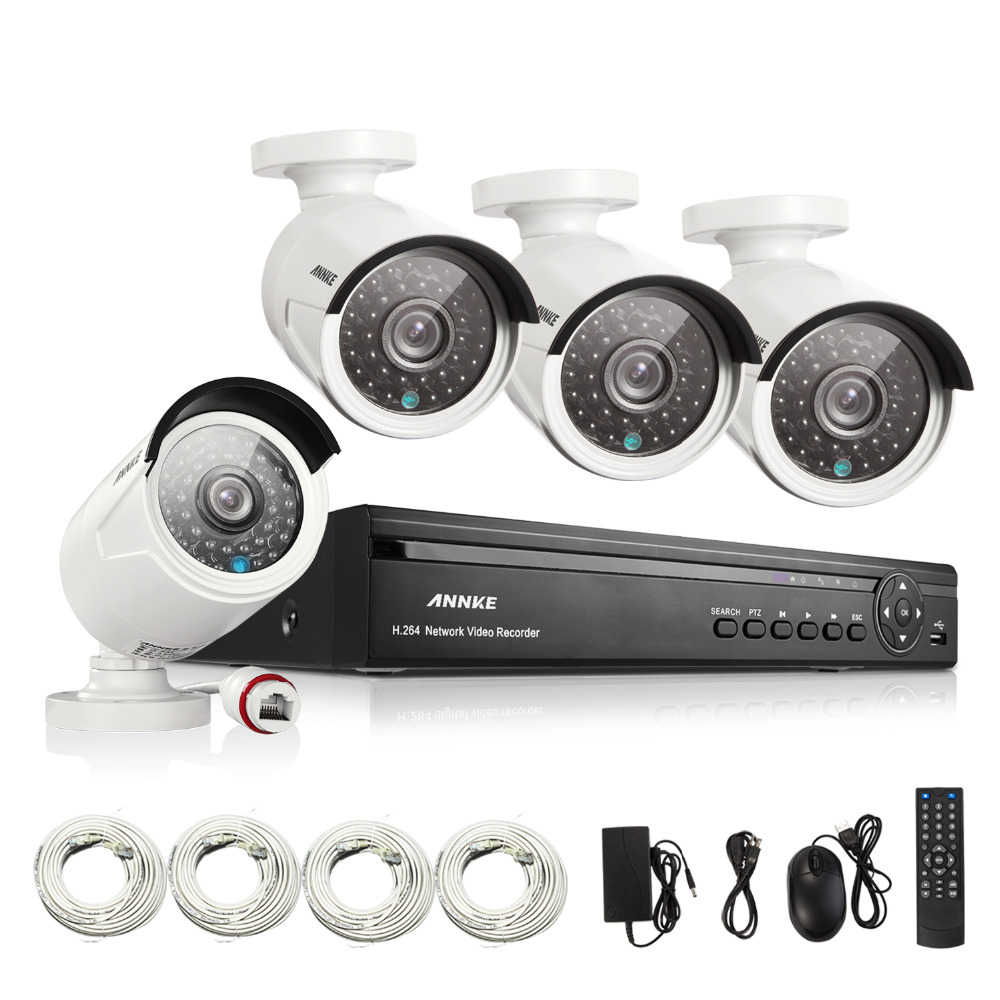 ANNKE 4CH Full 960P HD Video NVR IP Network PoE IR Indoor Outdoor font b Security