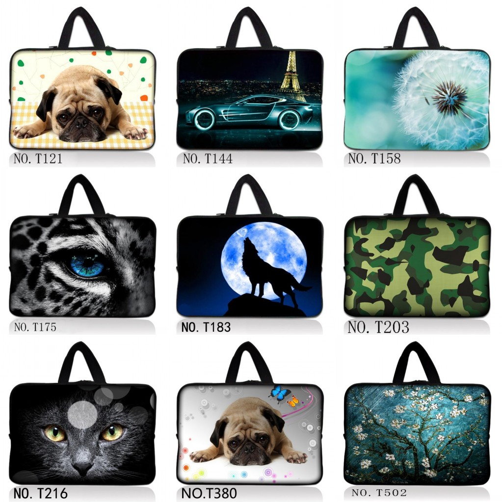 Wolf 10 11.6 13 13.3 14 15 15.6 17 <font><b>17.3</b></font> Inch Dog Laptop sleeve <font><b>Notebook</b></font> Bag <font><b>Case</b></font> Messenger PC Handbag for ipad macbook HP Car image