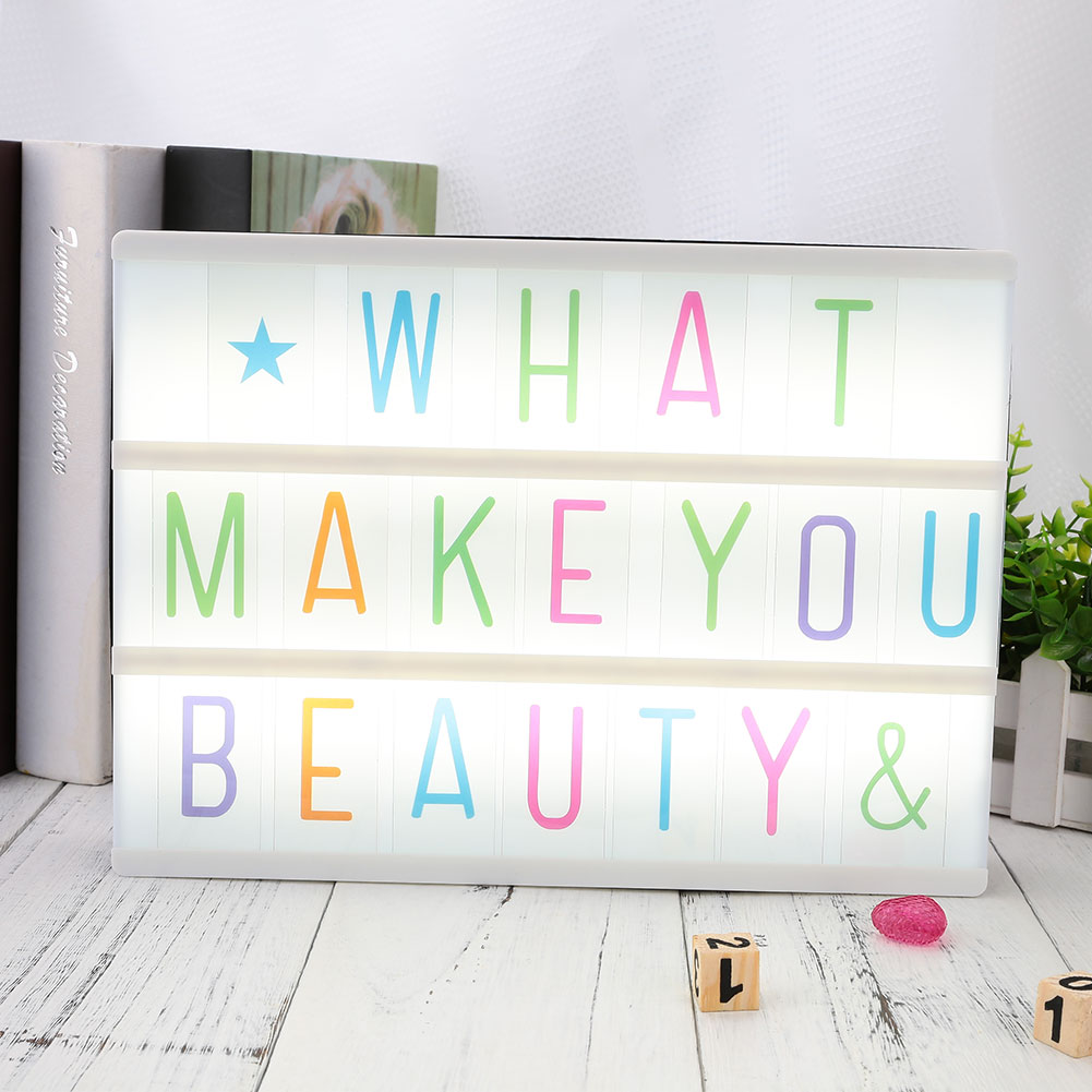 85pcs Replacement A4 Up Box Letters Cards Sign LED Cinematic Board Gift LED Letter Without Box Festival Party Decor Night Lights