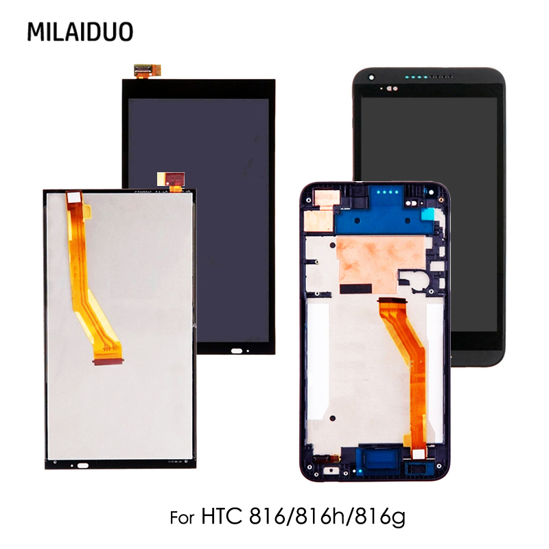 Original LCD Display For HTC Desire 816 816H 816G 816W D816X 816D 816T Touch Screen Digitizer Replacement With Frame Black 5.5''