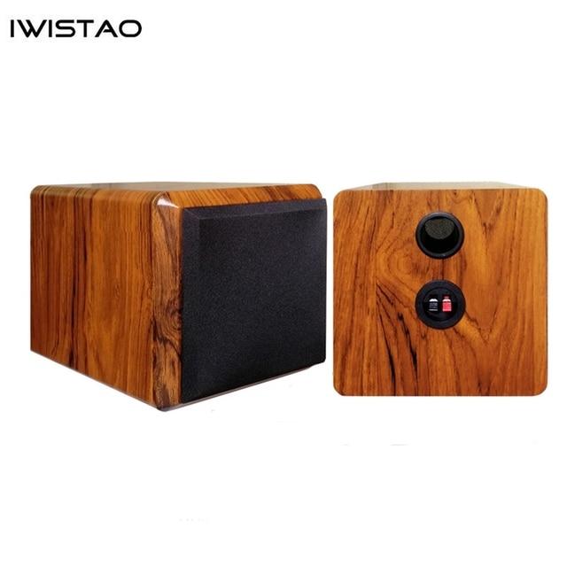 IWISTAO Full Range Speaker Empty Cabinet for 4 inches Passive Speaker Enclosure Wood 15mm High Density MDF Board Volume 4.8L DIY