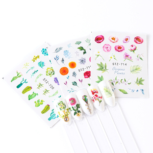Image 4 - 24pcs Gradient Nail Decals Water Transfer Sticker Blossom Butterfly Wraps Sliders Adhesive Decorations Manicure BESTZ707 730