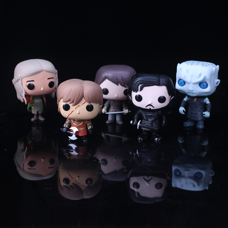 New Movie Game Of Thrones Jon Snow Daenerys Tyrion Ghost Night King 5 kinds of Action Figure toys Model Gift Doll