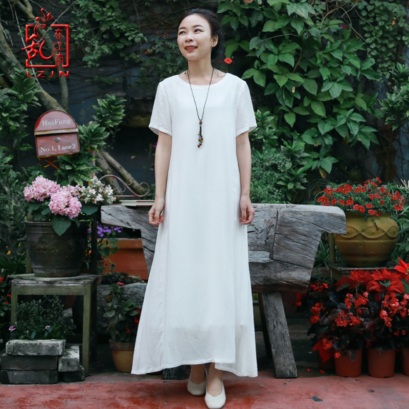 LZJN Robe orientale à manches longues Cheongsam Qipao 2019 été automne Floral papillon imprimé Robe traditionnelle chinoise femmes Robe