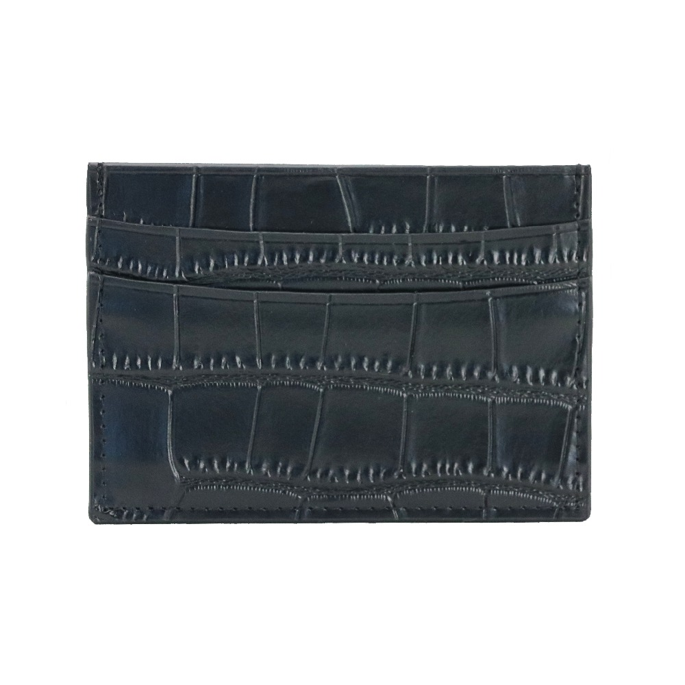 classic Crocodile Pattern Card Holder Men Women Genuine Leather Leather Credit Card Case ID Card Holder Wallet Purse Pouch