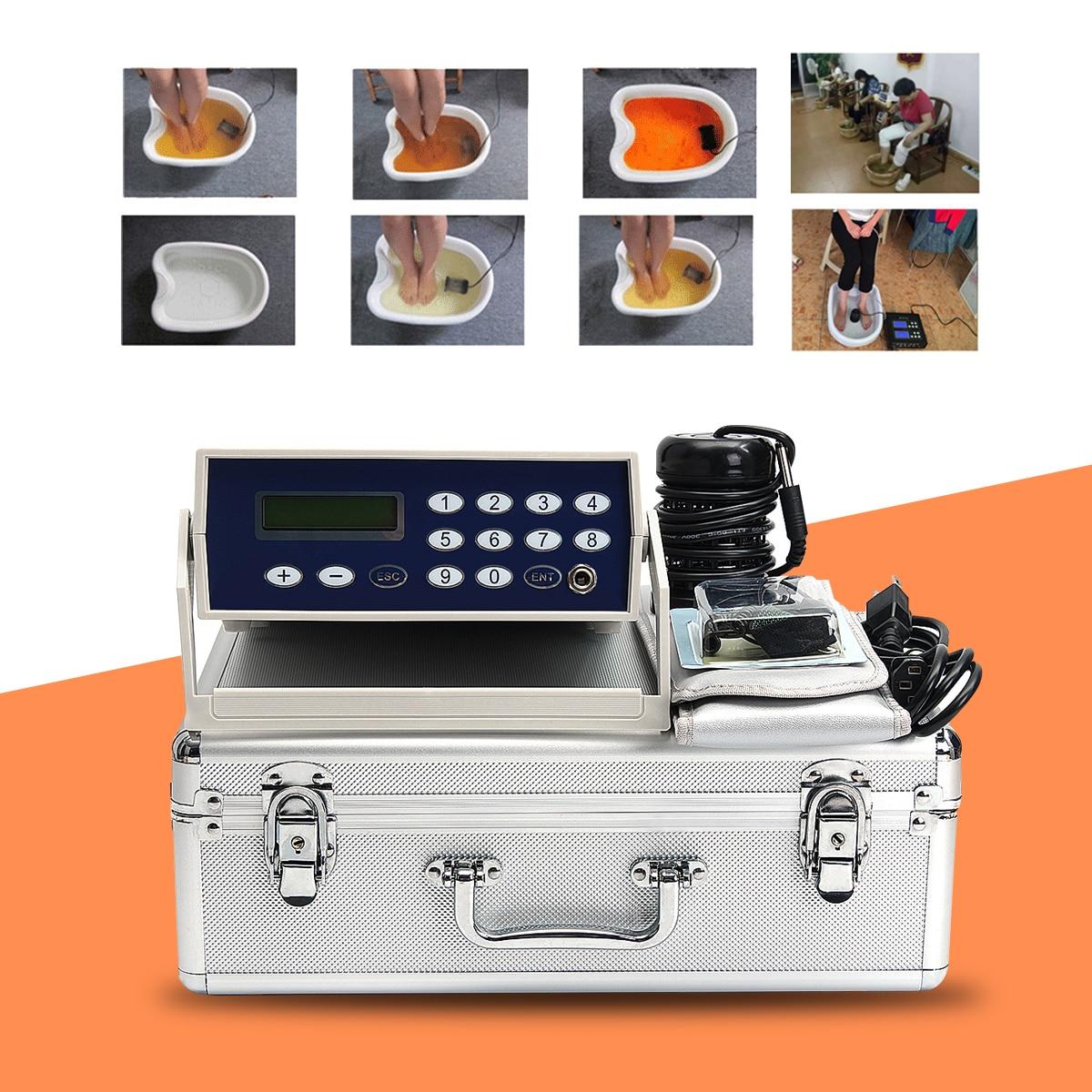 Détox soins des pieds Machine cellule Ion ionique Aqua bain de pieds SPA nettoyer Machine sapin ceinture boîte peut bain de pieds massage soulagement de la douleur machine
