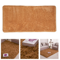 9 Colors 60CM X 120CM Fluffy Rugs Anti Skid Shaggy Area Dining Room Home Bedroom Carpet