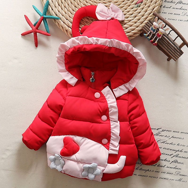 2018 Birthday christmas Cotton Hooded Jackets for Newborns Baby Girl Warm Outerwear Childrens Girl Coats Autumn Winter Clothing2018 Birthday christmas Cotton Hooded Jackets for Newborns Baby Girl Warm Outerwear Childrens Girl Coats Autumn Winter Clothing