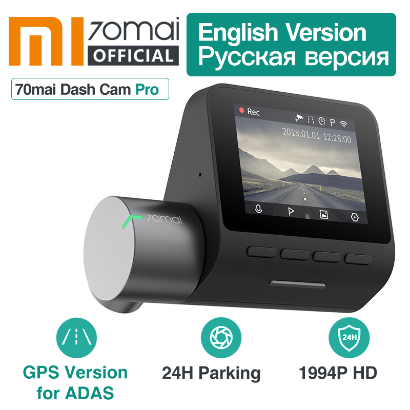 Xiaomi 70mai Dash Cam Pro 1944P GPS ADAS 70 mai pro Cam English Voice Control 24H Parking Monitor 140FOV Night Vision Wifi Cam