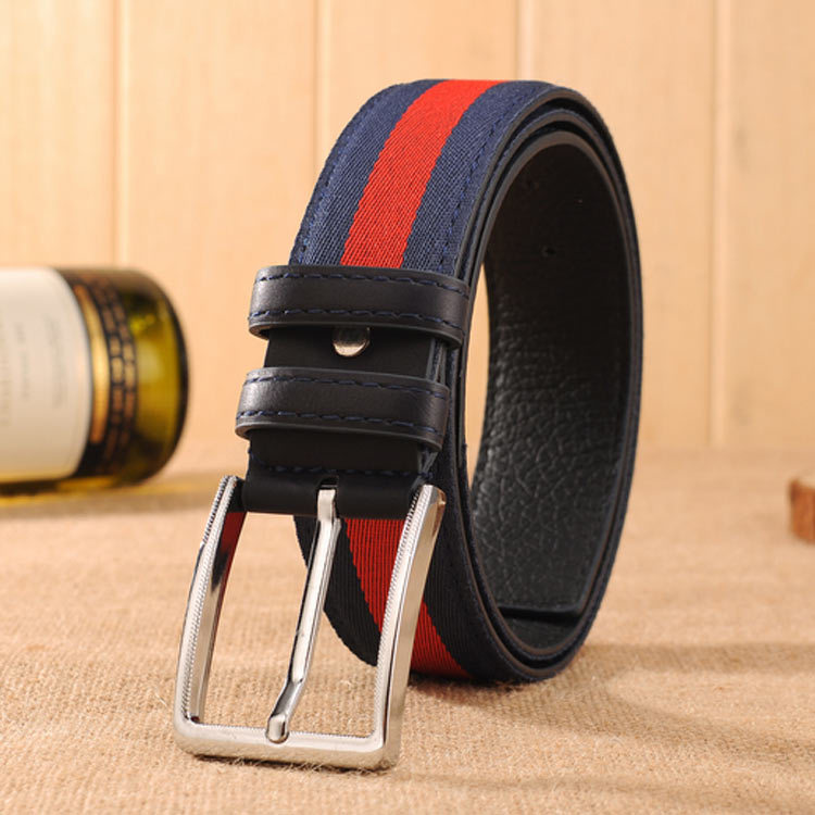 Hot Sales Luxury Brand Fashion Designer Men   Belt   Pin Buckle Waist Band Stripe Men High Quality Classic Waist   Belt   Festival Gift