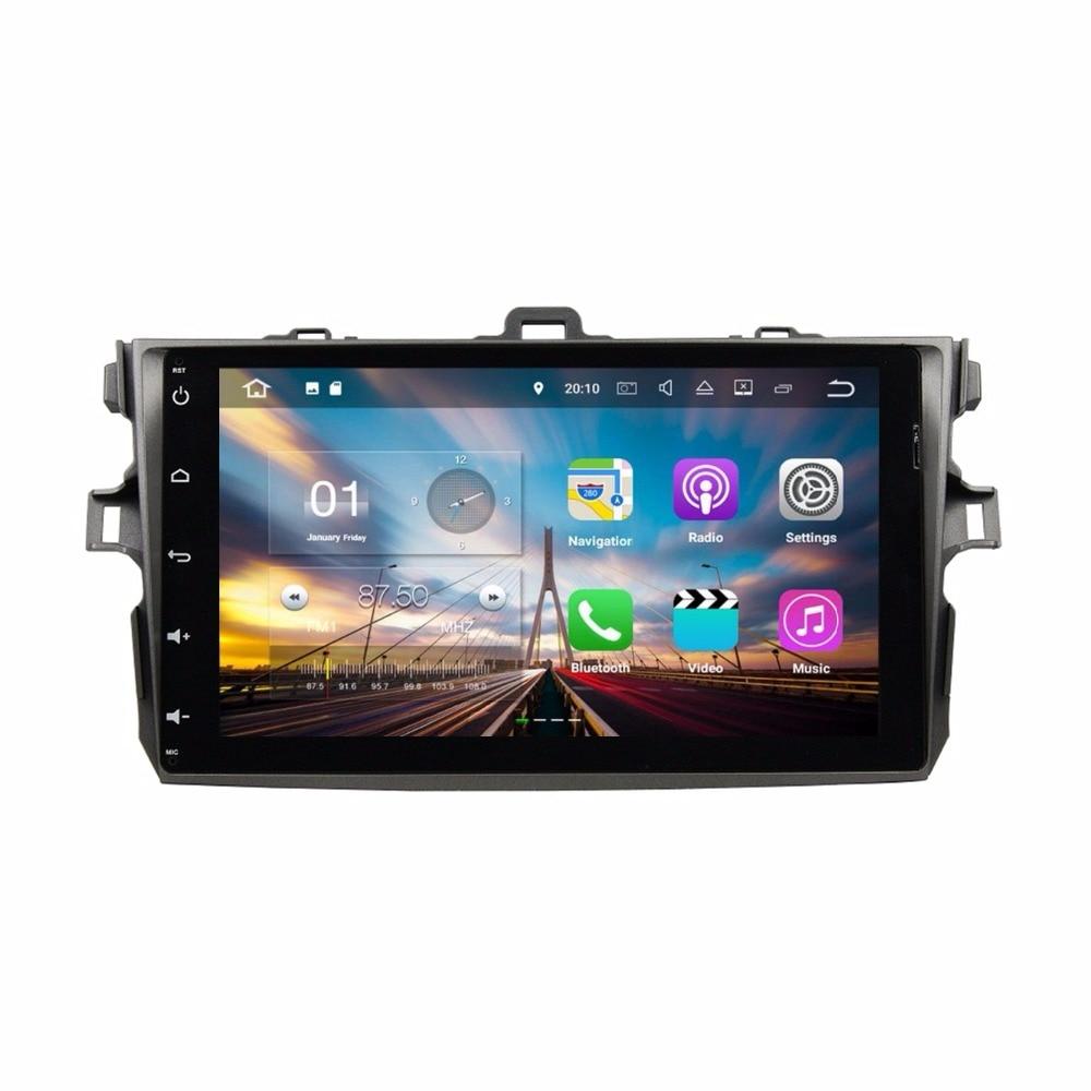 10.1 2din 2GB RAM Android 7.1 Quad Core Car Radio DVD GPS Multimedia Head Unit for Toyota Corolla 2006 2007 2008 2009 2010 2011