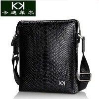 KADILER Import Python Skin Male Bag Single Shoulder Bag Men Business Bag High Grade Leather Vertical