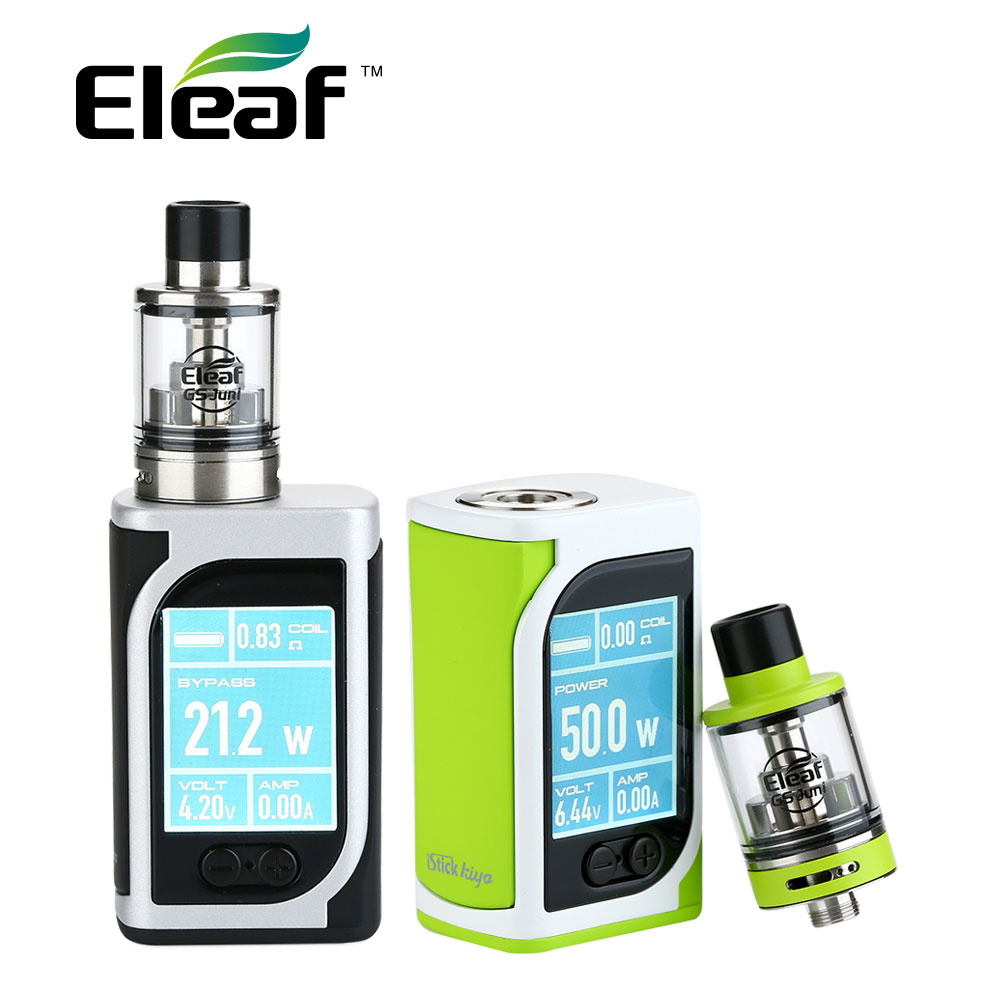 New Original Eleaf IStick Kiya 50W TC Kit with 2ml GS Juni Tank & Built-in 1600mAh Battery Max 50W Power Vape Kit Vs Pico 25 Kit цена 2017