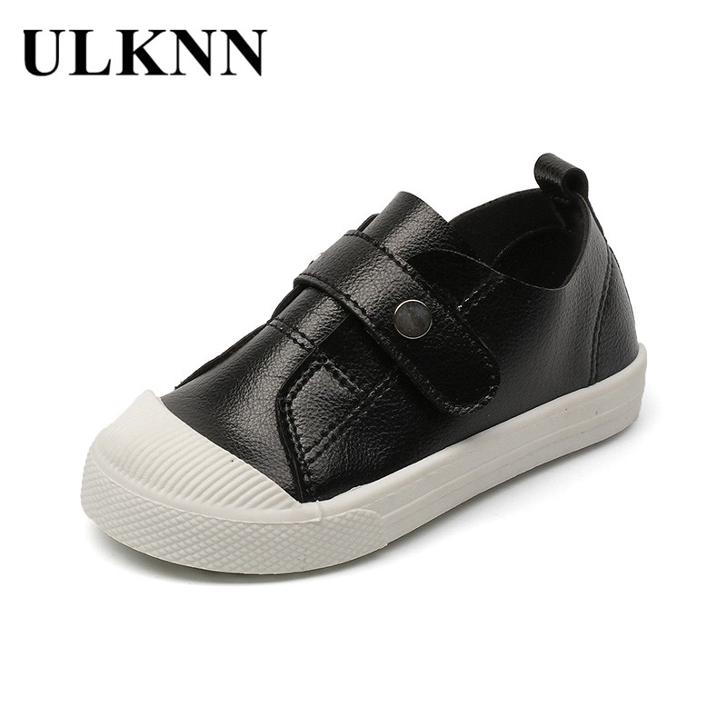 ULKNN Toddle Baby Sneakers Kids Shoes For Girls Solid Casual Shoes Kids Sneakers Boys Running Children Soft Leather School Shoe