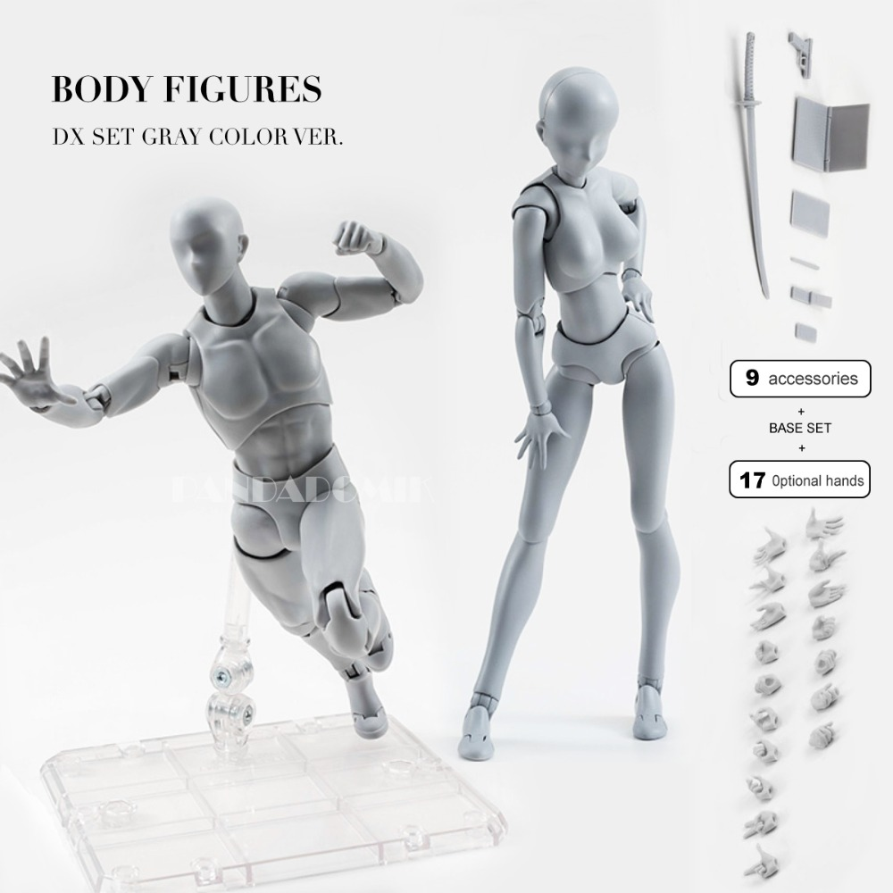 Body Action Figure 2 Reference Dolls for Drawing PVC Models Kids Toys Action Toy Figures Collectible Gift Toy Anime Girls Boys 2017 anime body kun body chan movable action figure model toys anime mannequin bjd art sketch draw collectible model toy