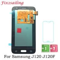 Super Display Screen For Samsung Galaxy J1 J120F J120DS J120G J120M J120H J120 Amoled LCD Display with Touch Screen Digitizer