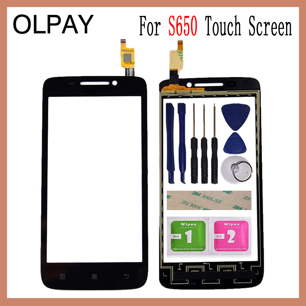 OLPAY 4.7 Touch Panel For Lenovo S650 S 650 Touch Screen Glass Digitizer Panel Lens Sensor Glass Free Adhesive And WipesOLPAY 4.7 Touch Panel For Lenovo S650 S 650 Touch Screen Glass Digitizer Panel Lens Sensor Glass Free Adhesive And Wipes