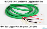 HIFI Cable For Speaker Cabinets Four Core Silver Plated Pure Copper 4N 4 Core Red Copper