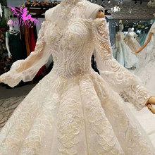 AIJINGYU Perto de Mim Rendas Do Vestido de Casamento e Vestidos de Luxo Barato Indiana Bonita Vestidos de Casamento Vestido de Princesa