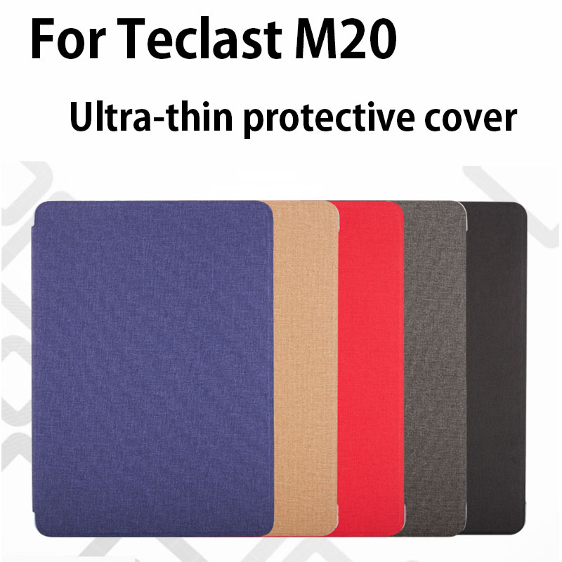 Newest!!High Quality Free Shipping Original Thin Pu Case For 10.1 Inch Teclast M20  Tablet PC, M20 Case Cover