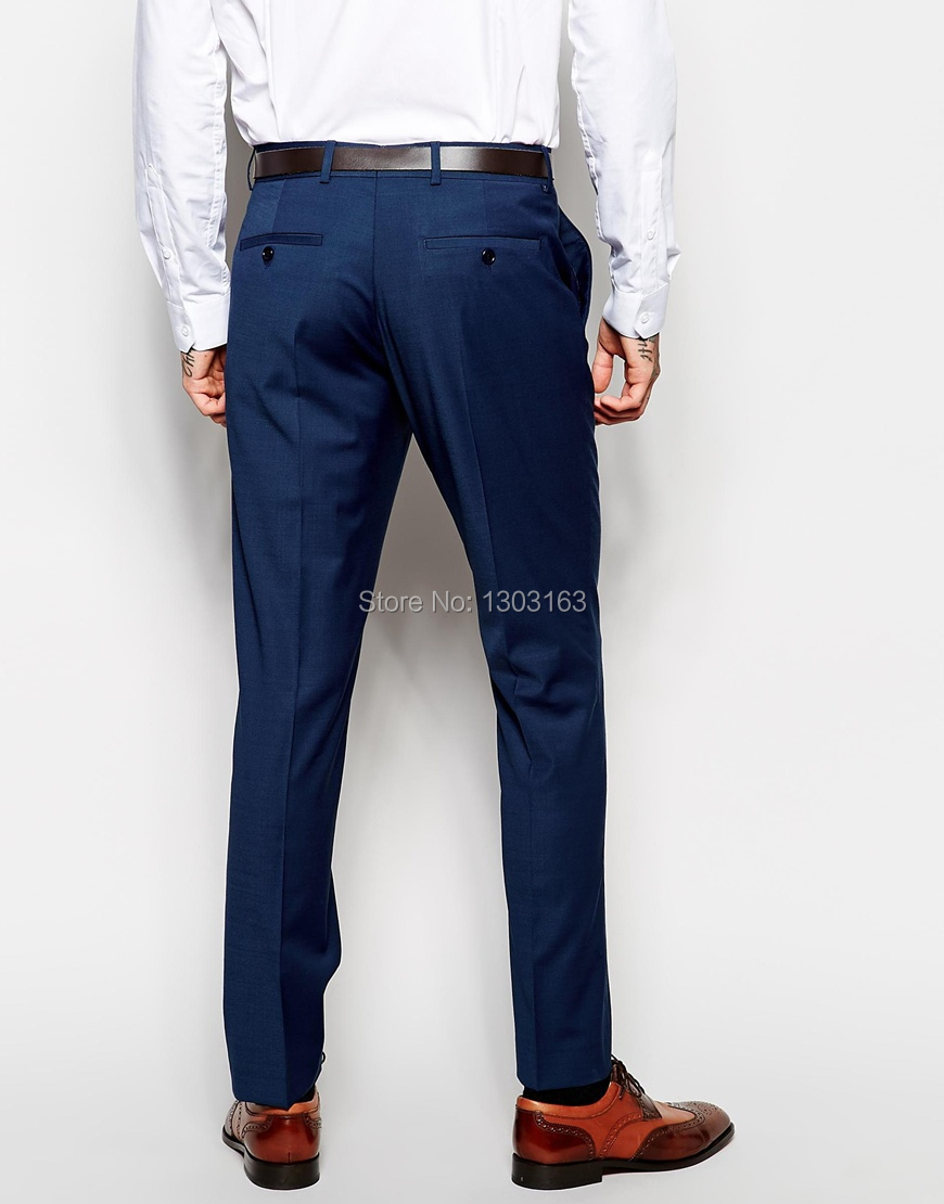 Custom Made Navy Blue Men Suit, Tailor Made Suit, Bespoke ...