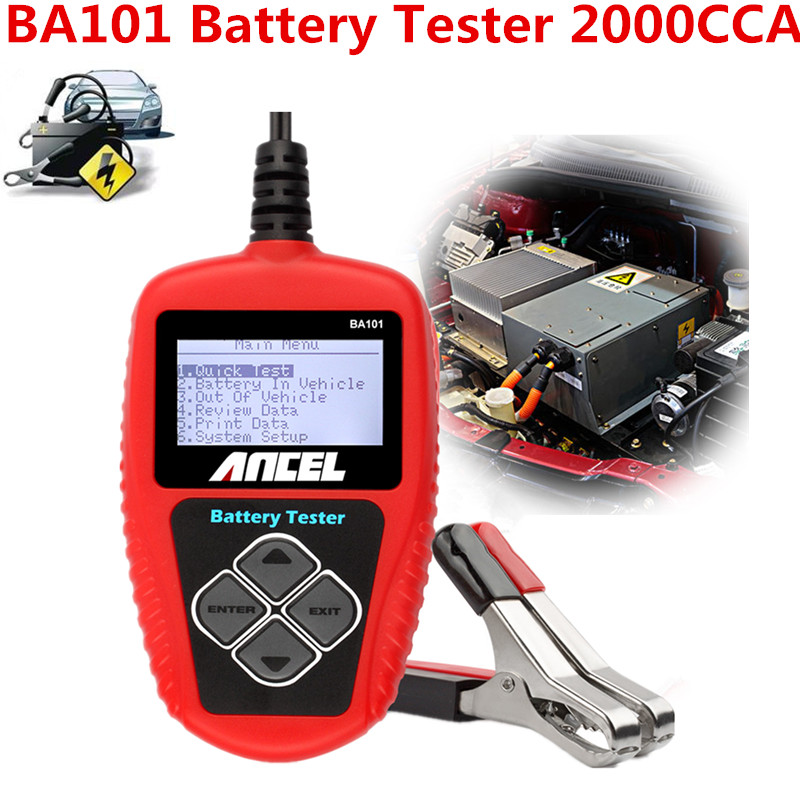 2000CCA 220AH BA101 Car 12V Battery Tester Battery Analyzer For 12V Automotive Battery Cranking Charging BAD