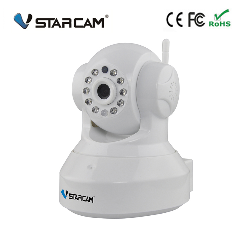 Vstarcam C7837  home office shop wifi camera Wireless IP Security Wifi CCTV  Support 64G TF card Free Shipping 2015 vstarcam t6835 micro tf sd card security ip camera wireless wifi p2p plug
