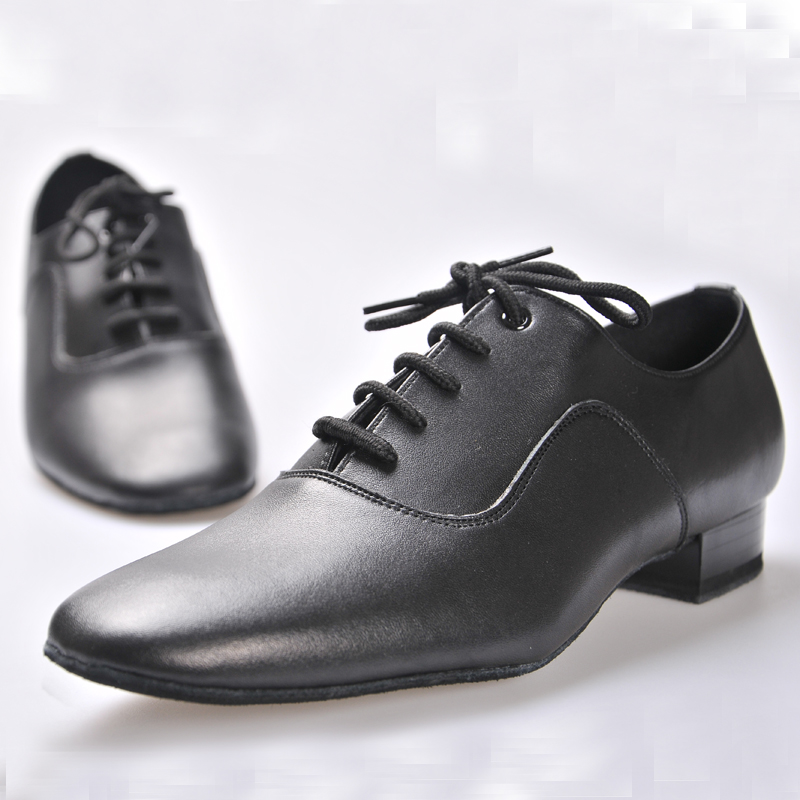 Latin shoes BD Dance shoes for Men Boy Ballroom 100 Cowhide Durable wear Social dance Genuine