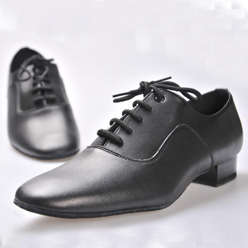 נעליים לטינית BD נעלי ריקודים לגבר בולם 100% Cowhide בלאי עמיד ללבוש ריקוד חברתי עור אמיתי נעלי ג'אז ללא החלקה הבלעדית