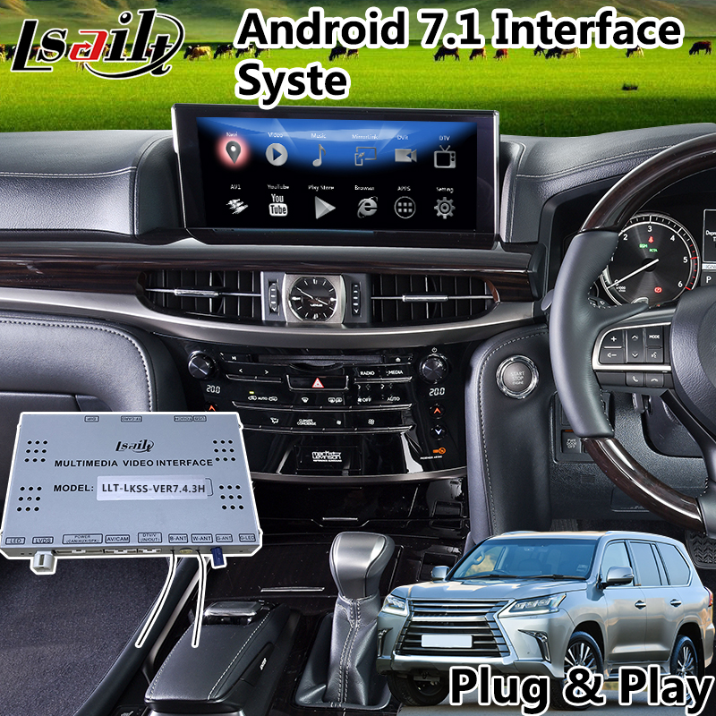 Video-Interface Mouse Gps-Navigator Mirrorlink Steering-Wheel LX570 Lexus WIFI Android