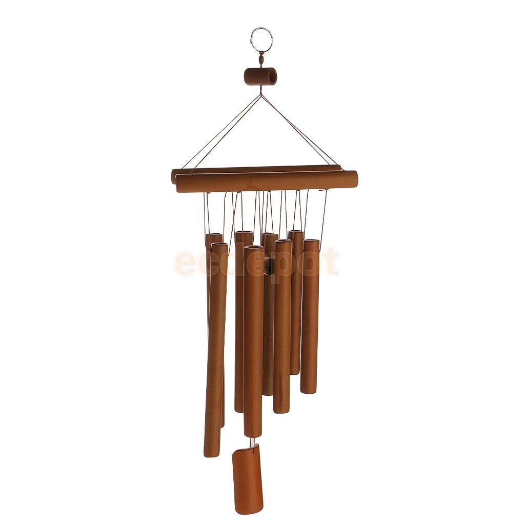 Profonda Rilassante 8 Tubi Zattera di Bambù Cappella Campane Mulino A Vento Carillon di Vento Decorazione