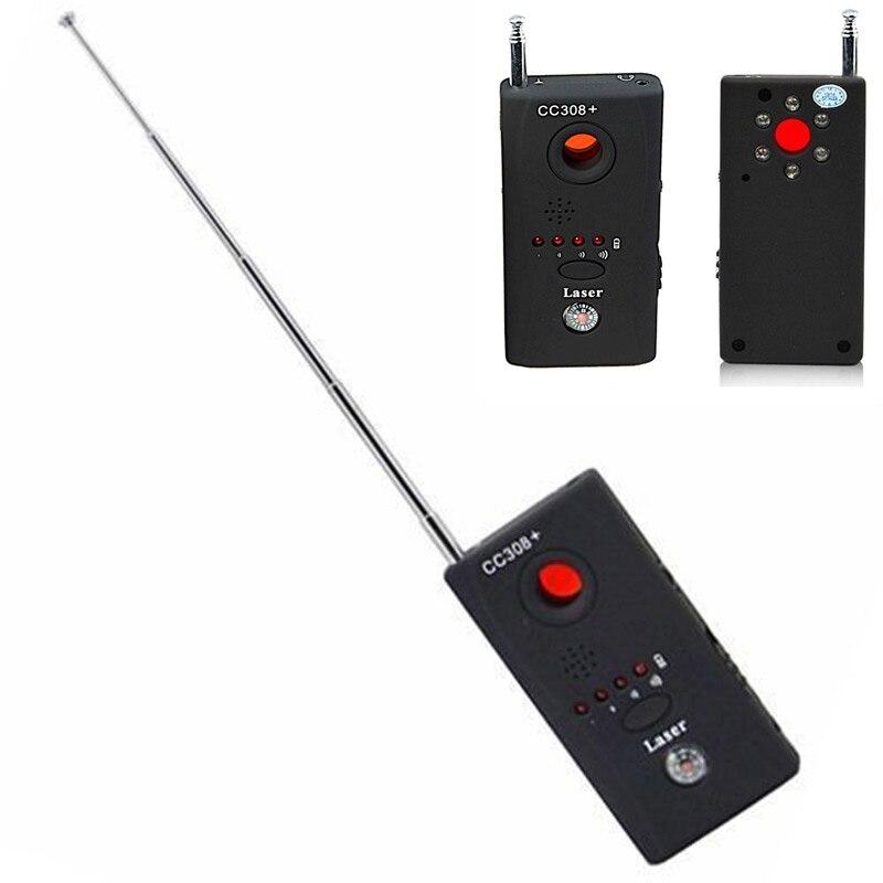 Dispositivo senza fili di GSM Audio Bug Finder Segnale GPS Laser Obiettivo RF Tracker Anti Spy Detector CC308 + QJY99