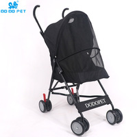 1 Foldable Pet Stroller Portable Dog Cat Trolley with Large Mesh Window Breathable Pet Carrier Aluminum Frame 10kg Bearing