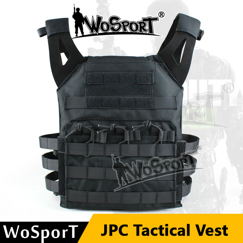 WoSporT Military Tactical JPC Vest Chest Rig Jumper Carrier Nylon MOLLE Gear For Airsoft Sport Paintball Combat Hunting Shooting