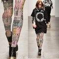Medias Pantis Woman Women Tights European Style Color Printing House Building Retro Pantyhose Leggings And Stylish Stockings