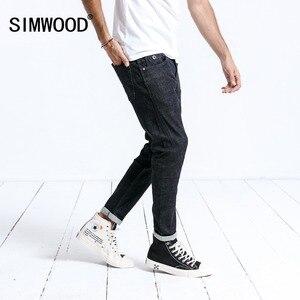 Image 2 - Simwood marca jeans masculina casual venda quente 2020 chegam novas calças compridas de brim fino para o homem calças plus size alta qualidade 180364