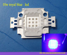 Бесплатная доставка, 5 шт., 10 Вт, светодиоды Королевского синего цвета, 450-455nm, высокая мощность, 180-220 лм, 1050ма, 9-11 в, светодиодные лампы для DIY