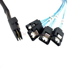 Mini SAS 4i SFF 8087 36 P до 4 SATA 7 p внутренний кабель жесткого диска 10 Гбит/с 1 м