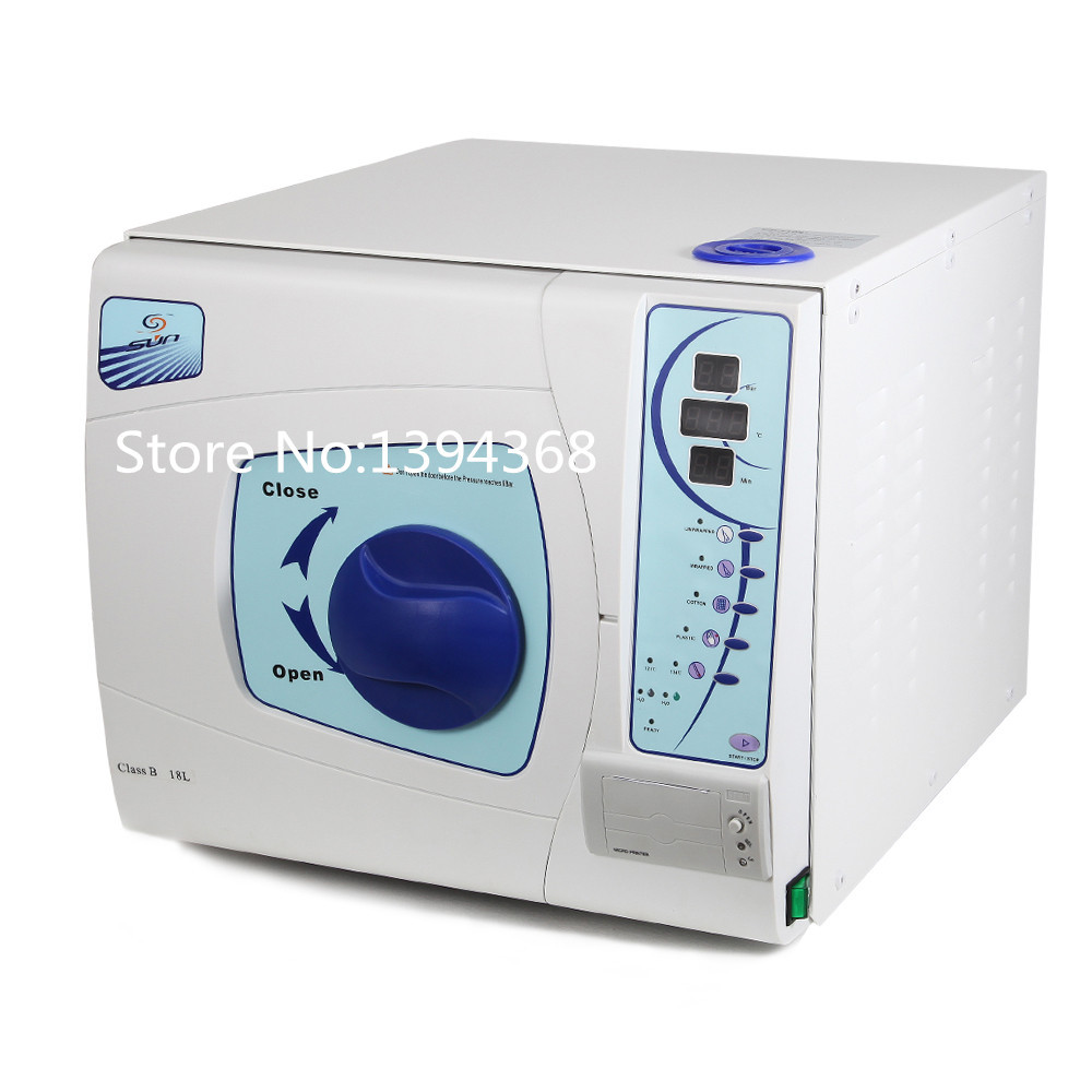 Free Shipping 18L Dental Sterilizer Medical Surgical Autoclave Vacuum Steam Datal Printing босоножки benta босоножки