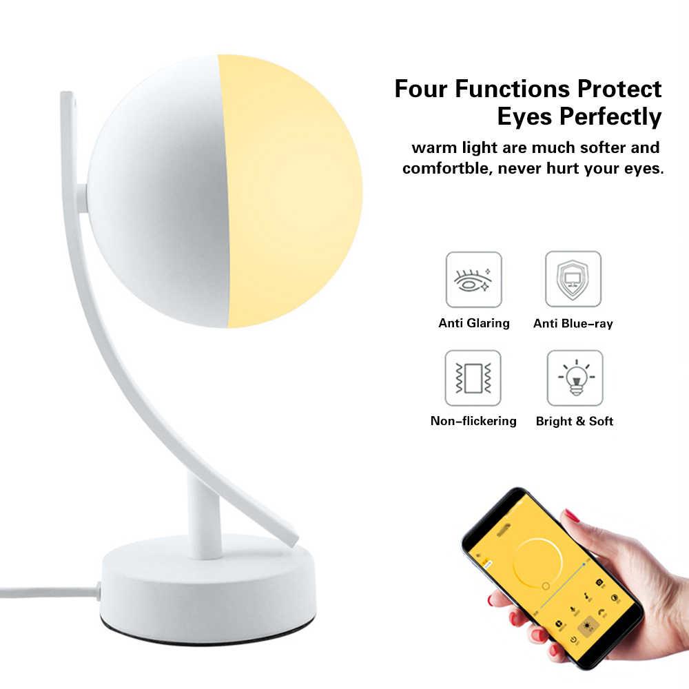 AC100-240V 7 Вт умный светодиодный настольный светильник Луна RGBW Wi-Fi приложение управление затемнения теплый лунный ночник