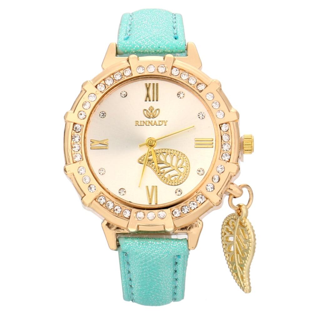 Montre Quartz strass pendentif montre-bracelet