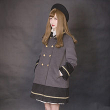Princess sweet lolita coat Dolly Delly Spell color lace fur coat Dolley-0013-2