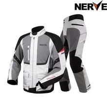 НЕРВА Мотокросс Езда Оборудование Передач Холодной доказательство Moto Летом сетки мужская Ткань Оксфорд Street Bike Racing Мотоцикл куртка