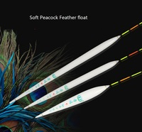 Multi Type Peacock Feather Materials Fishing Float Suitable For Many Water Conditions Fine Vertical Buoy